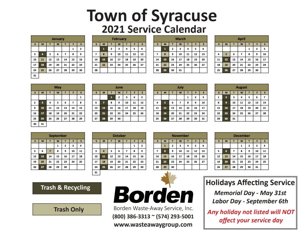 Photos of Syracuse Fall 2021 Calendar